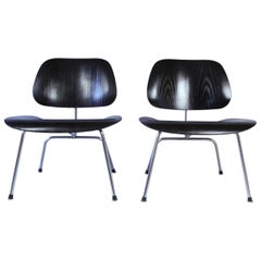 Pair of Eames LCM Chairs by Contura in Black and Chrome