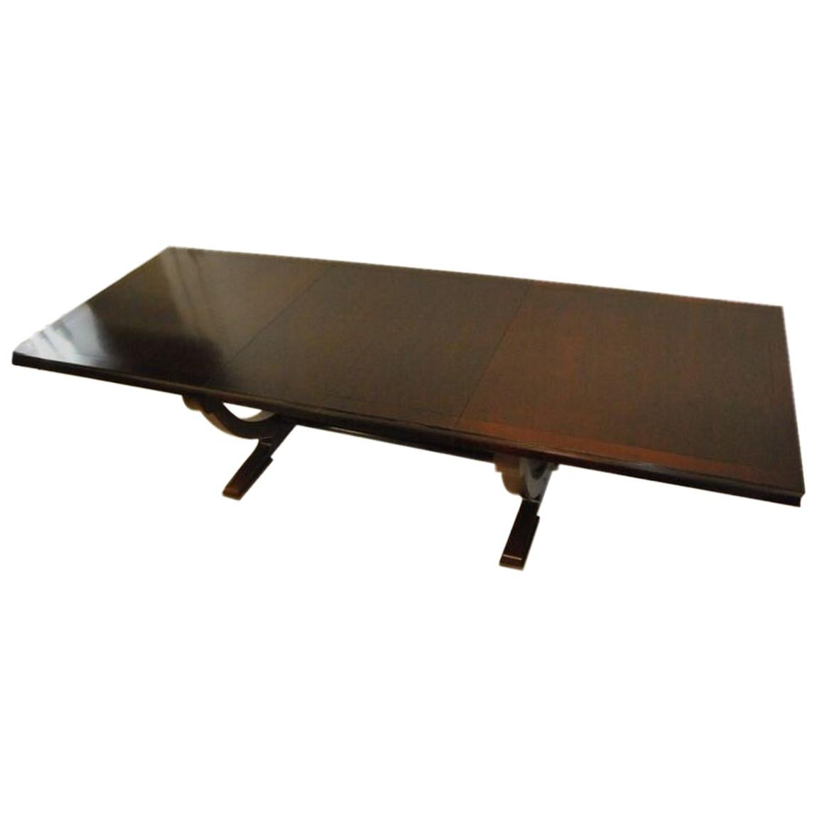 Mahogany Rectangle Dining Room Table By Barbara Barry For Baker Furniture
