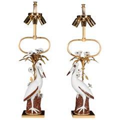 Pair of Midcentury Italian Table Lamps by Mangani