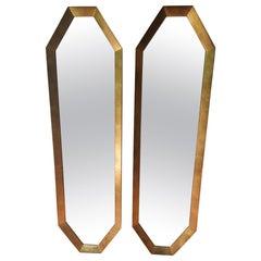 Pair of Gilt Wood Midcentury Modern Mirrors