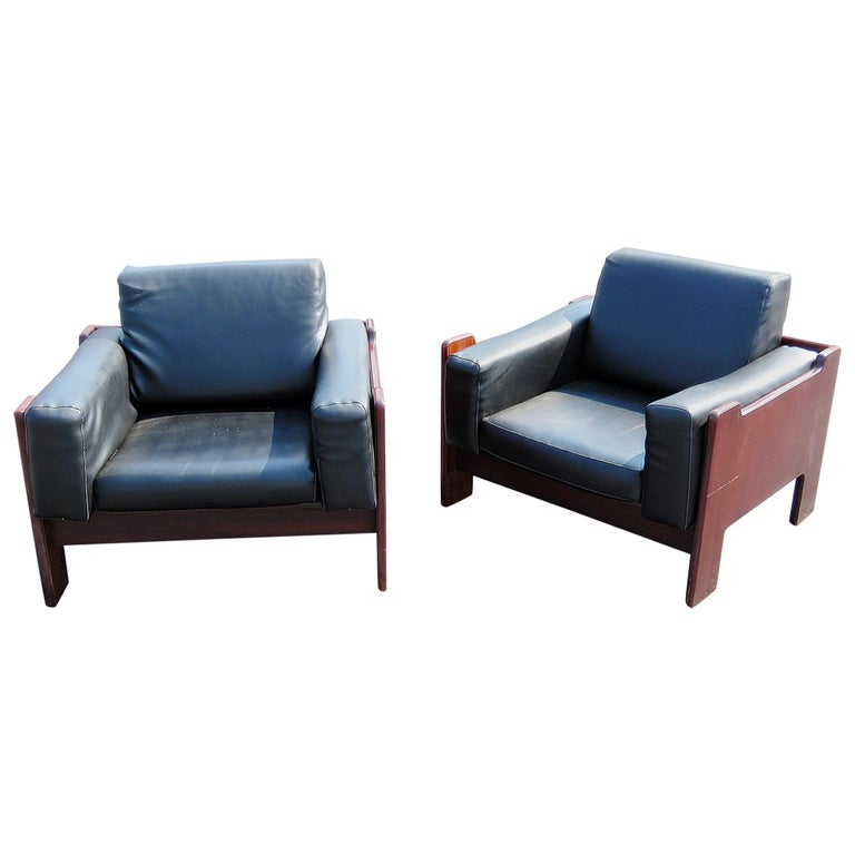 Pair of Milo Baughman Style Club Chairs