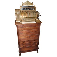 Early 1900s National Cash Register Floor Mod 562.6 Unrestored