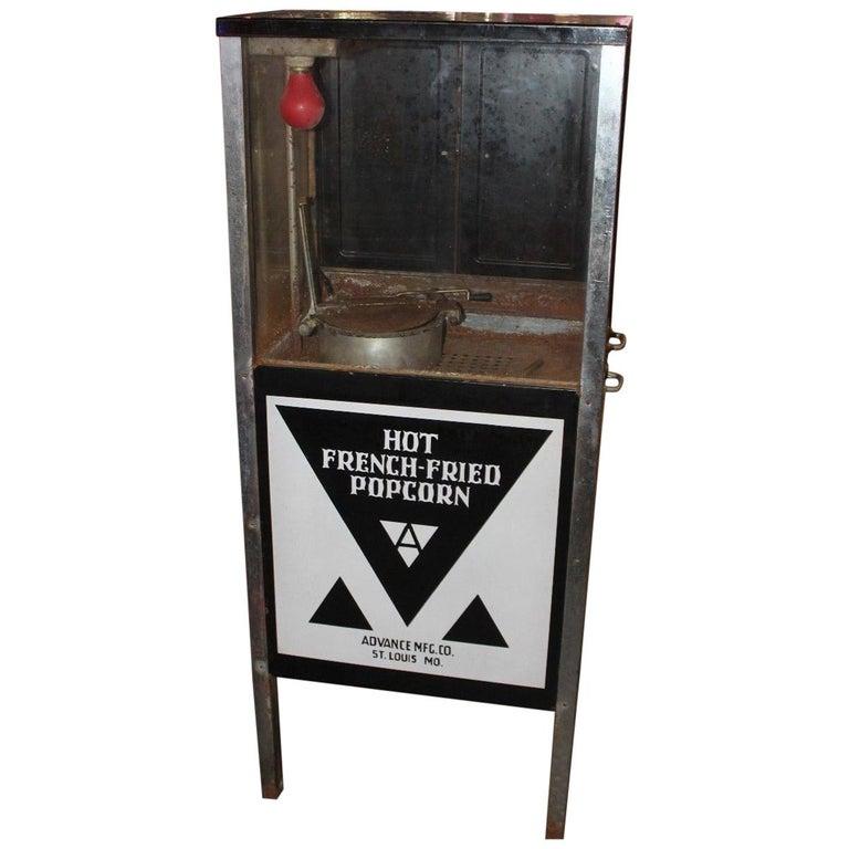 1930s-1940s Hot French-Fried Popcorn Porcelain Popcorn Machine