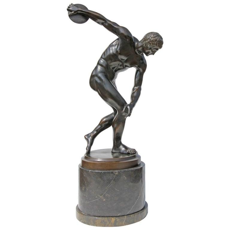 "19th Century Bronze Sculpture ""The Discus Thrower"""