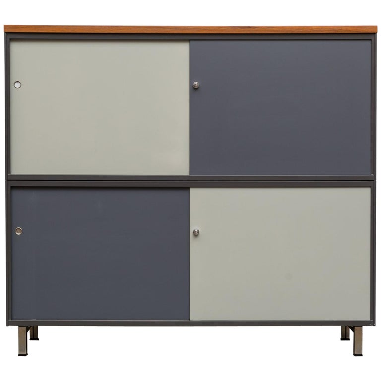 Extra Large Two-Tier Gispen Industrial Metal Cabinet