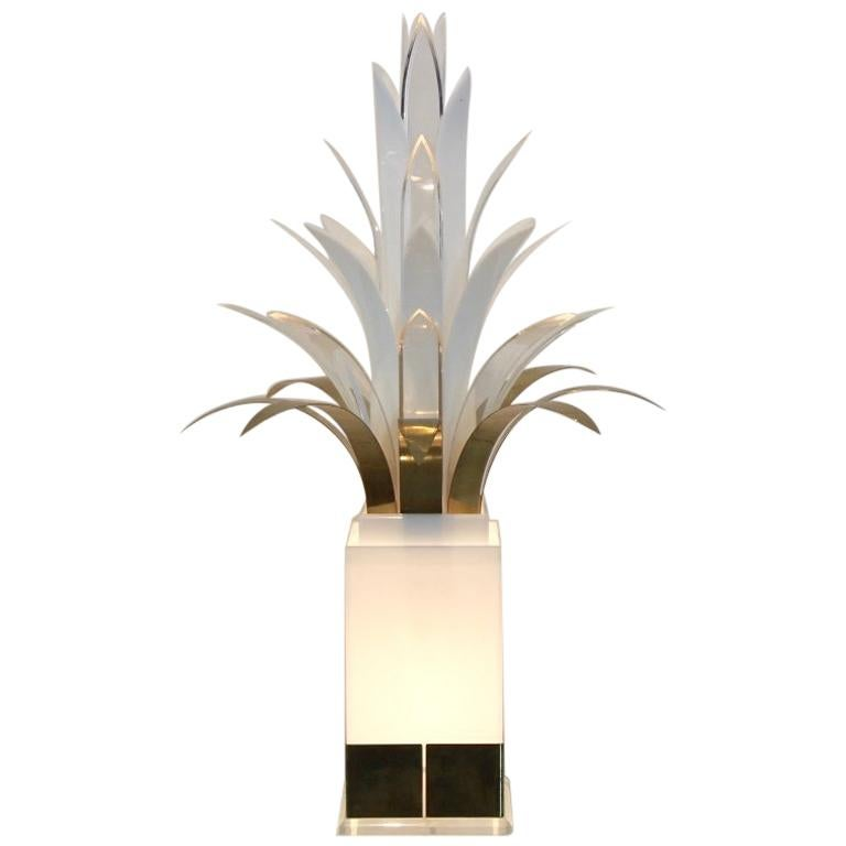 Rare Midcentury Palm Tree Lamp by Peter Doff, Netherlands, 1970s