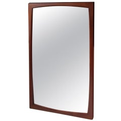 Danish Modern Teak Wall Mirror From Aksel Kjersgaard 1960s