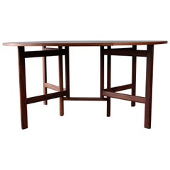 Stunning Rarely Seen Dining Table in Teak, Danish Design