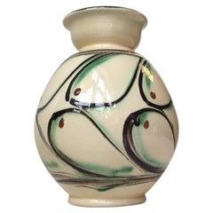 Art Deco Danish Pottery Vase by Herman August Kähler, 1930s