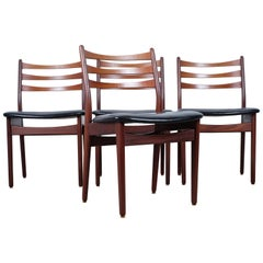 Midcentury Danish Teak Dining Chairs, Set of Four