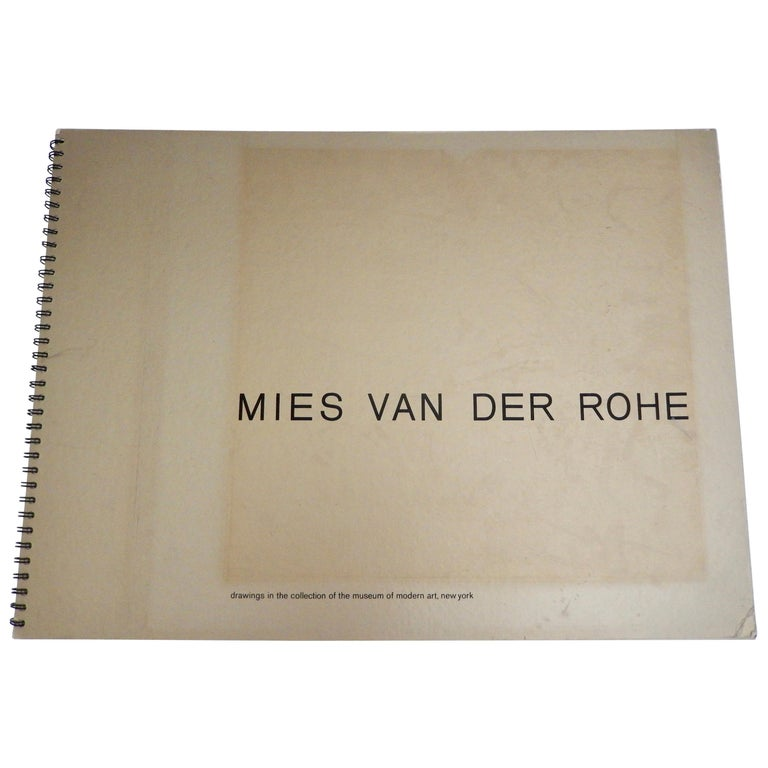 1969 Ludwig Mies van der Rohe/ Folio of Architectural Drawings/MOMA For Sale