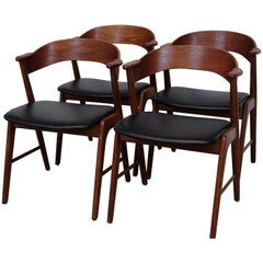 Dining Chairs by Kai Kristiansen for Korup Stolefabrik, 1960s, Set of Four