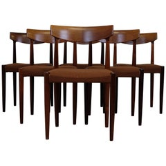 Knud Færch Set of Six Dining Chairs in Rosewood