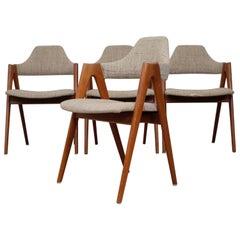 Kai Kristiansen Set of Four Compass Chairs in Teak