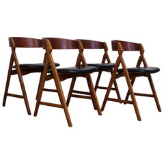 Dining Chairs by Henning Kjaernulf Set of Four