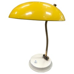 Yellow Midcentury Table Lamp, Italy, 1950s