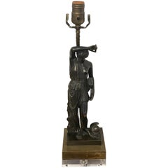 Grand Tour Bronze Sculpture of Diana, Now as a Lamp