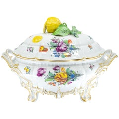 German Porcelain Tureen, Gilded, Early 20th Century, Nymphenburg