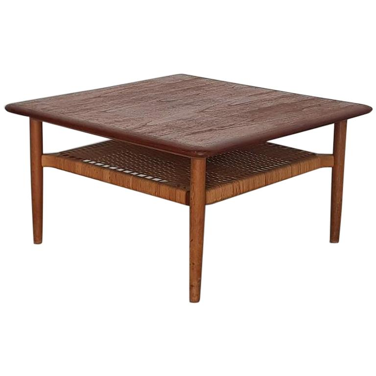 Teak Square Coffee Table by Johannes Andersen, Denmark, 1960s