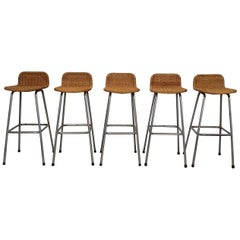 Set of Five Bar Stools by Dirk Van Sliedregt, Rohe Noordwolde, The Netherlands