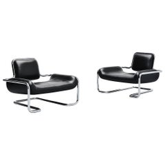 Kwok Hoi Chan Limande Lounge Chairs Steiner, France, 1971