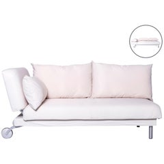 Brühl & Sippold Four-Two Designer Sofa White Fabric with Function