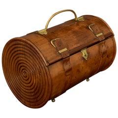 Rare Carved Cylindrical Box, circa 1900
