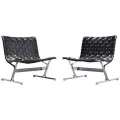 Ross Littel Luar Lounge Chair Pair ICF de Padova, Italy, 1965