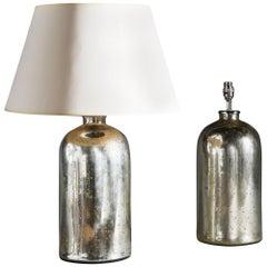 Pair of Verre Eglomisé Bottle Lamps