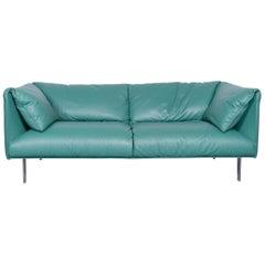 Poltrona Frau John-John Designer Leather Sofa in Mint Two-Seat