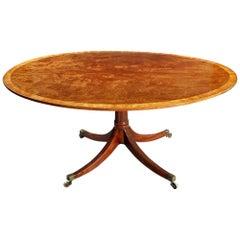 Large Mahogany Oval Breakfast Table