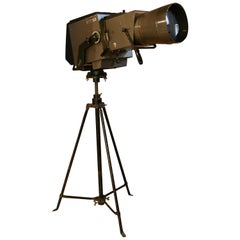 1970s Large Pani Film Spotlight on a Steel Tripod