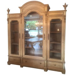 Early 20th Century French Pine Wood Bibliotheque