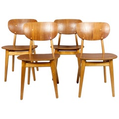 SB11 Cees Braakman Dining Chairs for Pastoe, Maple and Teak, Denmark, 1950s