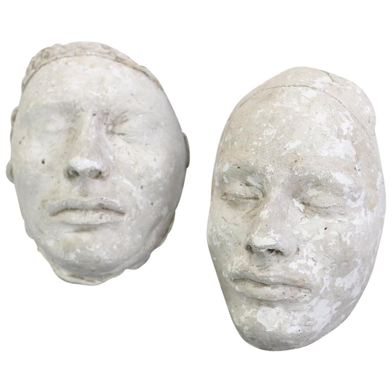 Pair of 19th Century Plaster Death Masks