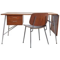 Midcentury Danish Design by Børge Mogensen Desk with Chairs