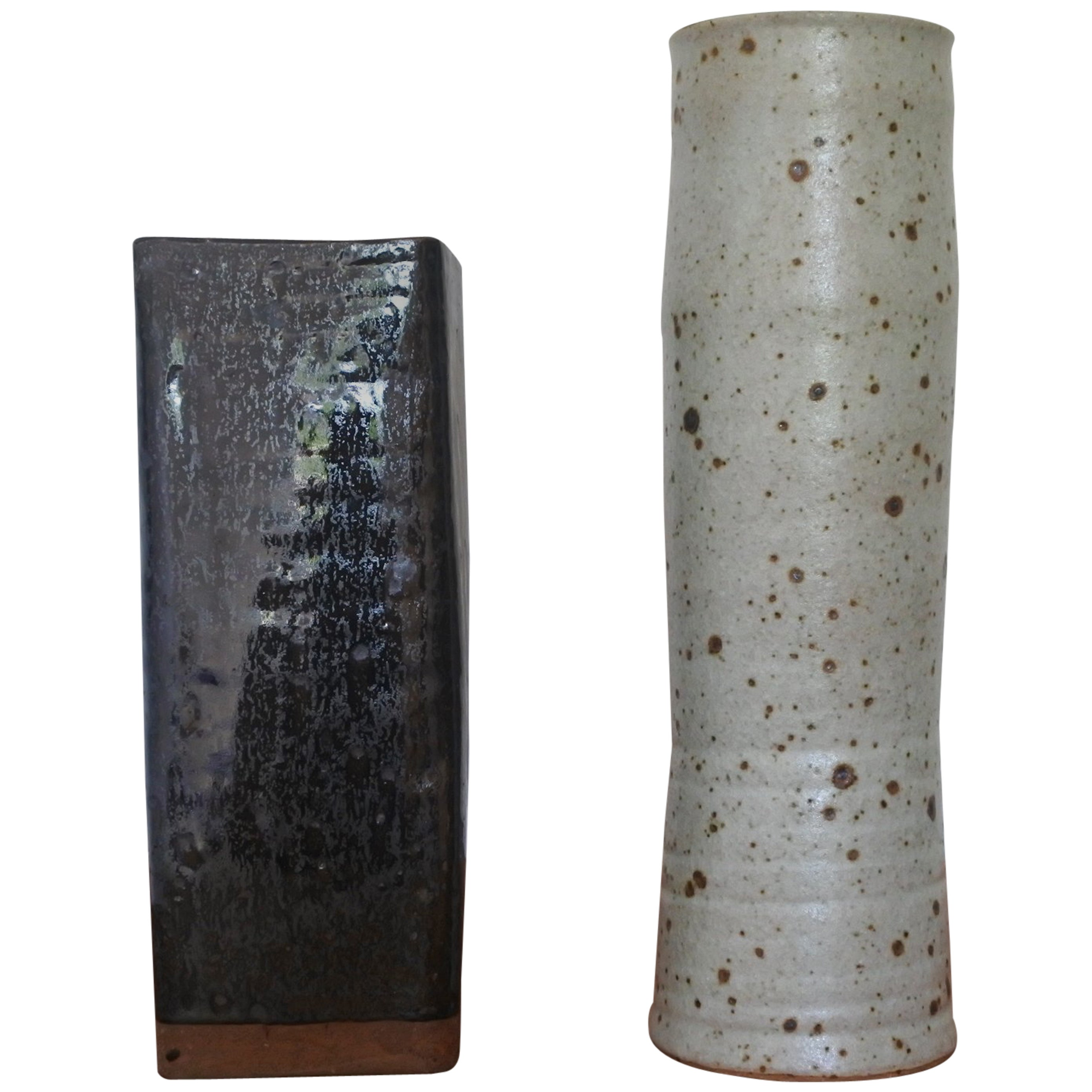 Set of Two Studio Pottery Vases, France, 1960s