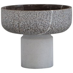 Footed Marble Bowl
