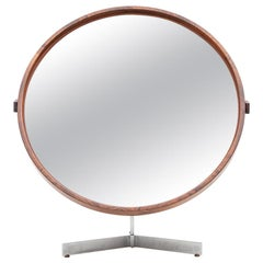 1960s Brown Rosewood Mirror by Uno and Östen Kristiansson