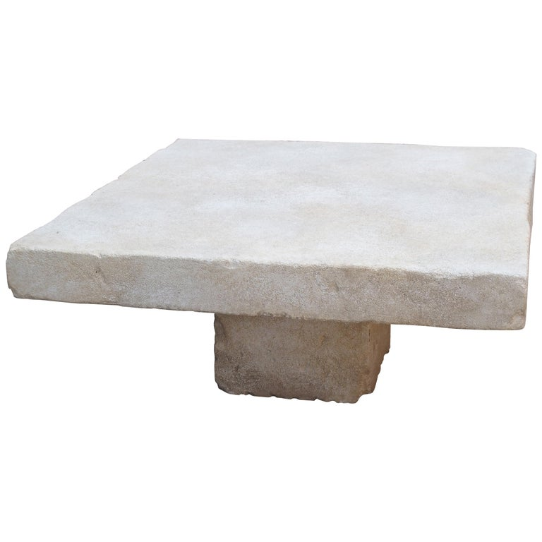 Limestone Coffee Table from the South of France