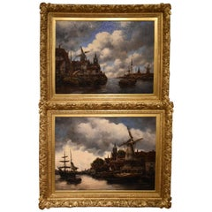 """Rotterdam"" and ""Dortmund"" Pair by Jan Van Couver"