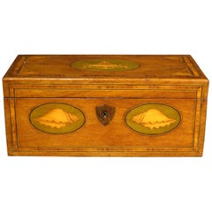Georgian Mahogany Tea Caddy Converted to a Document /Jewelry Box, circa 1810