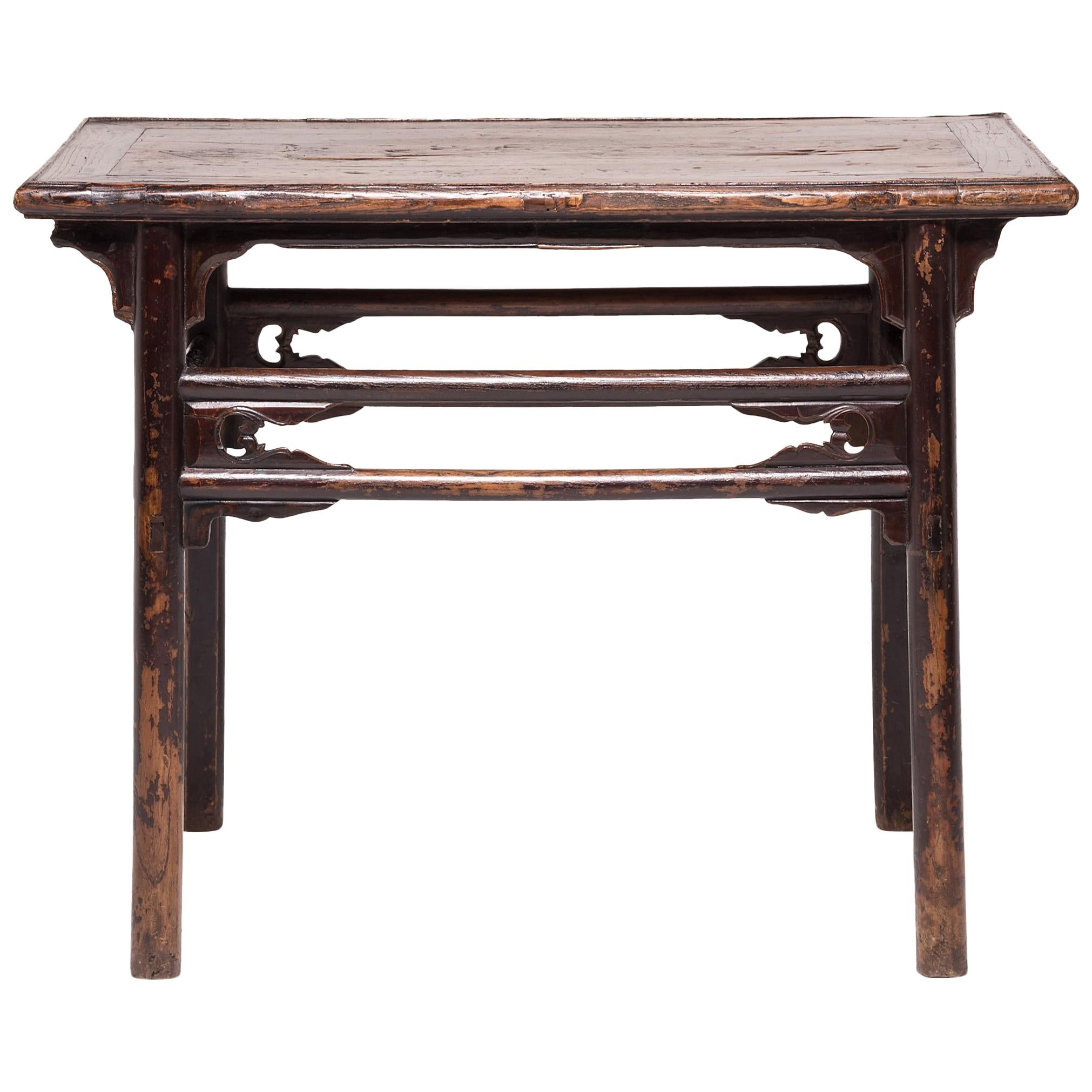 Double Stretcher Console Table For Sale
