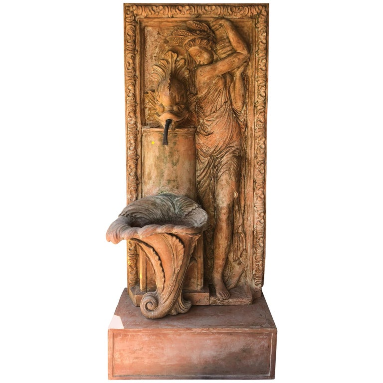 French Terracotta Fountain