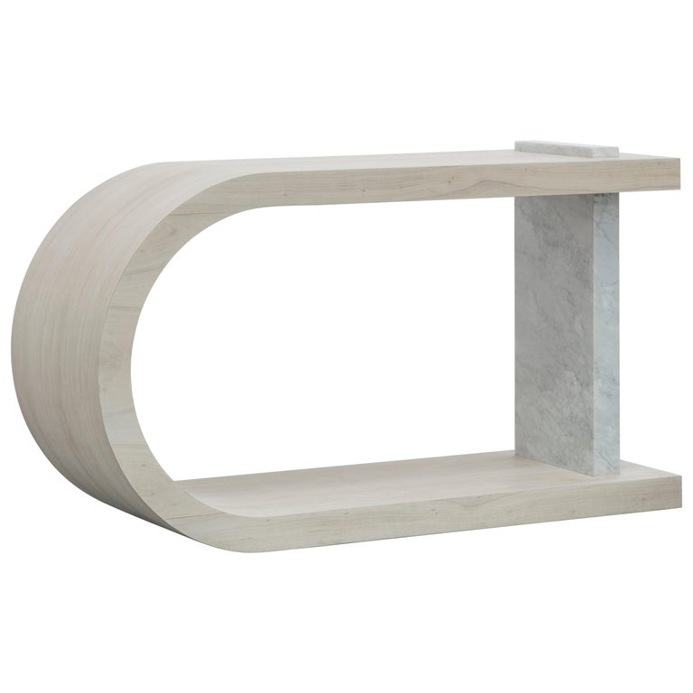 Gisele Console Table Bleached White Oak For Sale