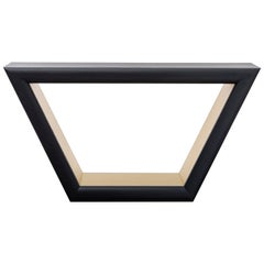 JOLIE CONSOLE - Modern Ebony Oak Console with Metal Inlay