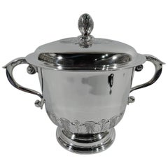 Elegant Georgian Style Sterling Silver Covered Trophy Cup