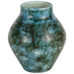 Jacques Blin, Incised Vase, France
