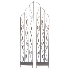 Pair of Art Deco Wrought Iron Room Dividers