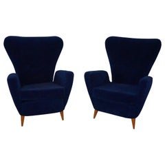 20th Century Pair of Paolo Buffa Lounge Chairs